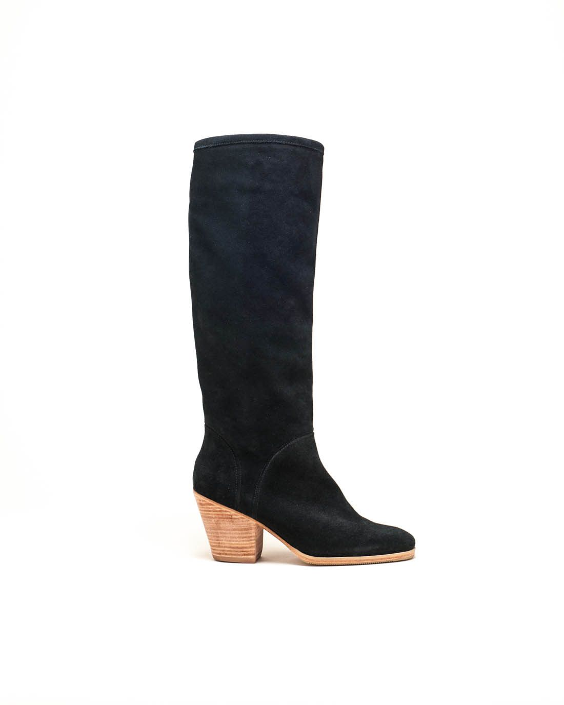 Carrier Boot in Black Nubuck By Rachel Comey