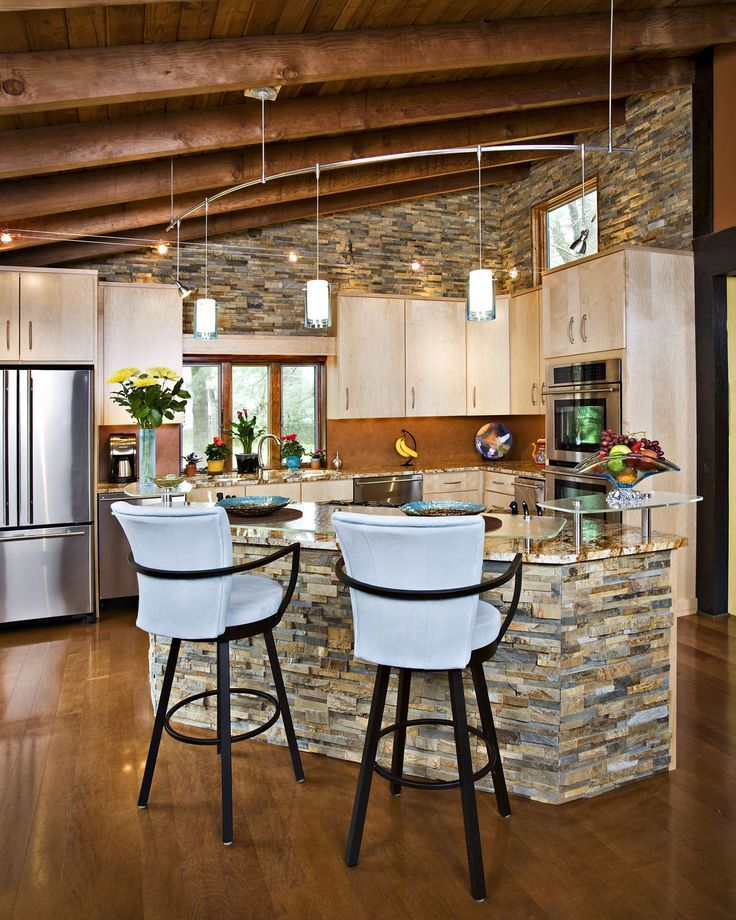 Similar to what I want to use - Back of kitchen island ideas Country ...