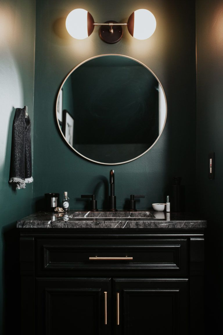 Dark Green Powder Room Reveal — Meg Biram