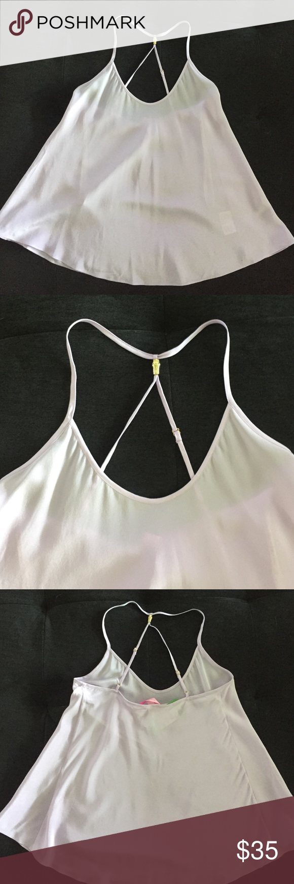 Lilly Pulitzer silk tank Light lavender 100% silk tank that has never been worn and has the original tag attached. Lilly Pulitzer Tops Tank Tops