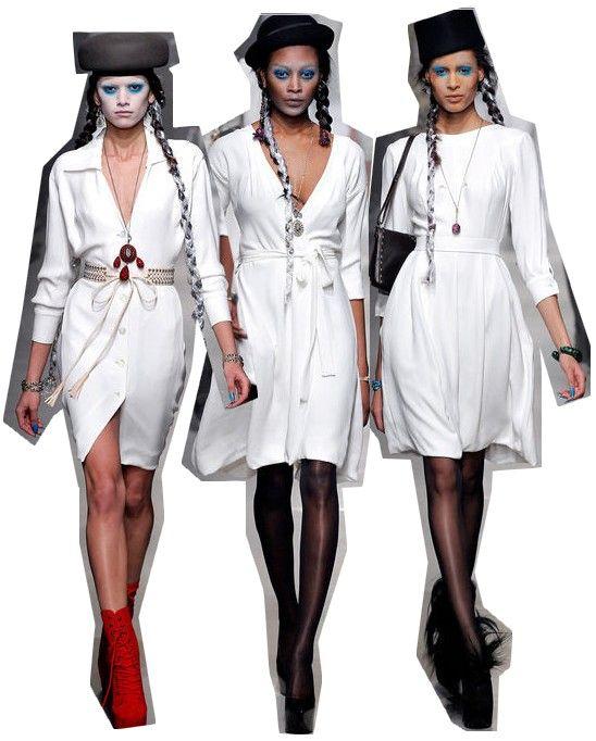 look total branco semana de moda de Paris