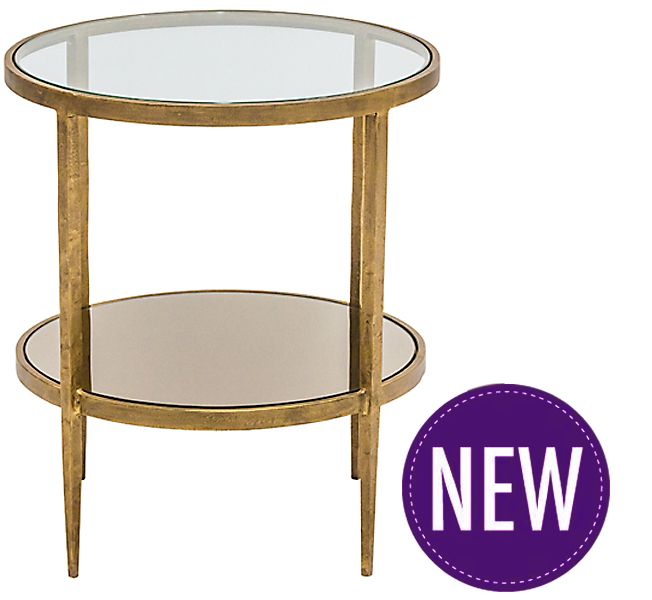 Brushed Gold Side Table DecorInterior DesignYardRemodel - Brushed gold side table