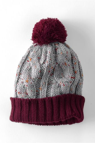 Kids Donegal Cable Knit Hat from Lands\' End | Stricken | Pinterest ...
