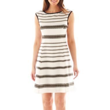 43fb81d58a Danny   Nicole® Sleeveless Striped Fit-and-Flare Dress found at  JCPenney