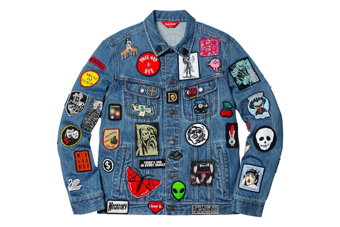 10 Drops You Don T Want To Miss This Week Denim Patches Trucker Jacket Denim [ 727 x 1090 Pixel ]