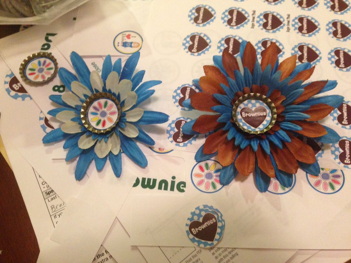 Brownie Daisy Flower Hair Clips Super Cute And Easy To Make