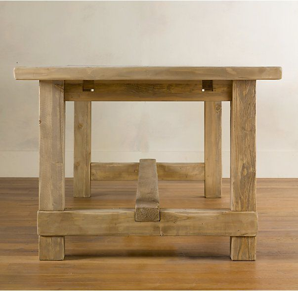 Salvaged Wood Farmhouse Rectangular Extension Dining Table Diy Dining Table Extension Dining Table Decor