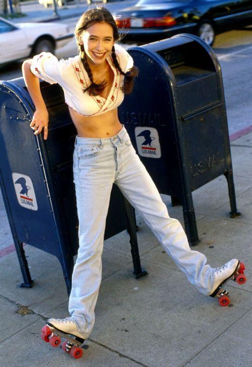 Jennifer Love Hewitt 1990's Rollerskate Photoshoot