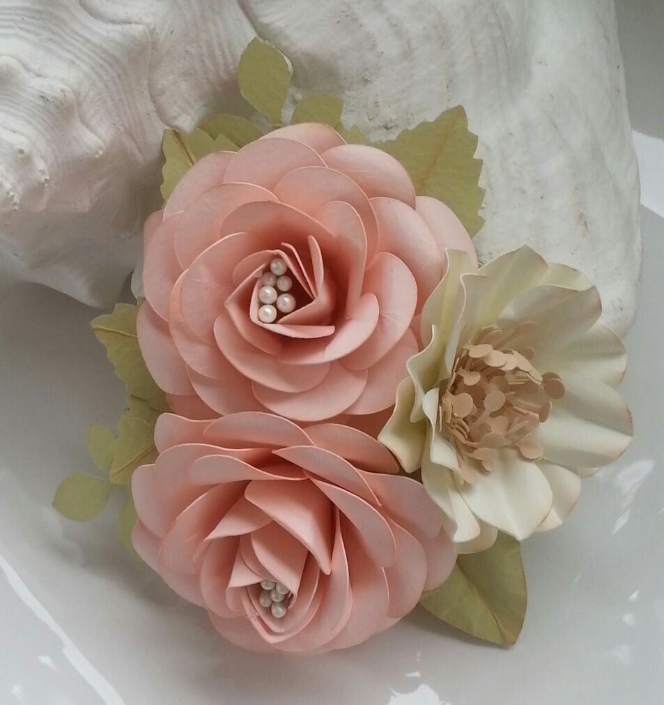 A Lovely Shabby Chic Pink Paper Flower Corsage Designed By Anna