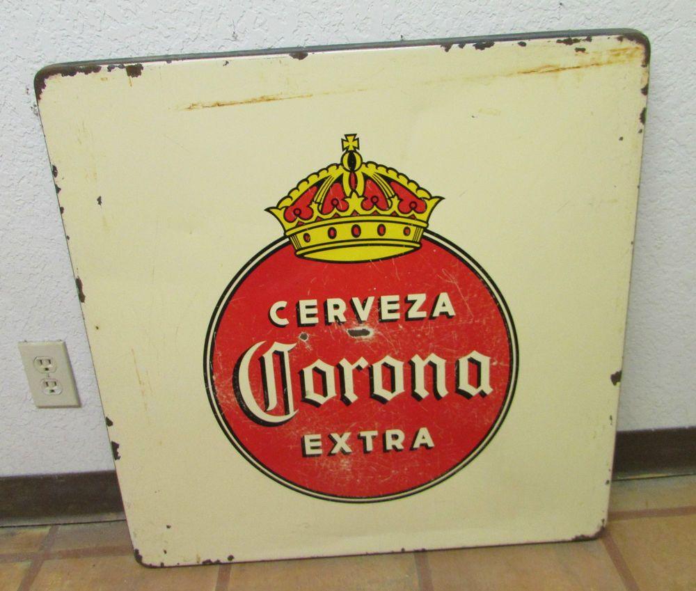 Corona Metal Table Porcelain Top 2 Old Mexican Restaurant Bar Decor ...