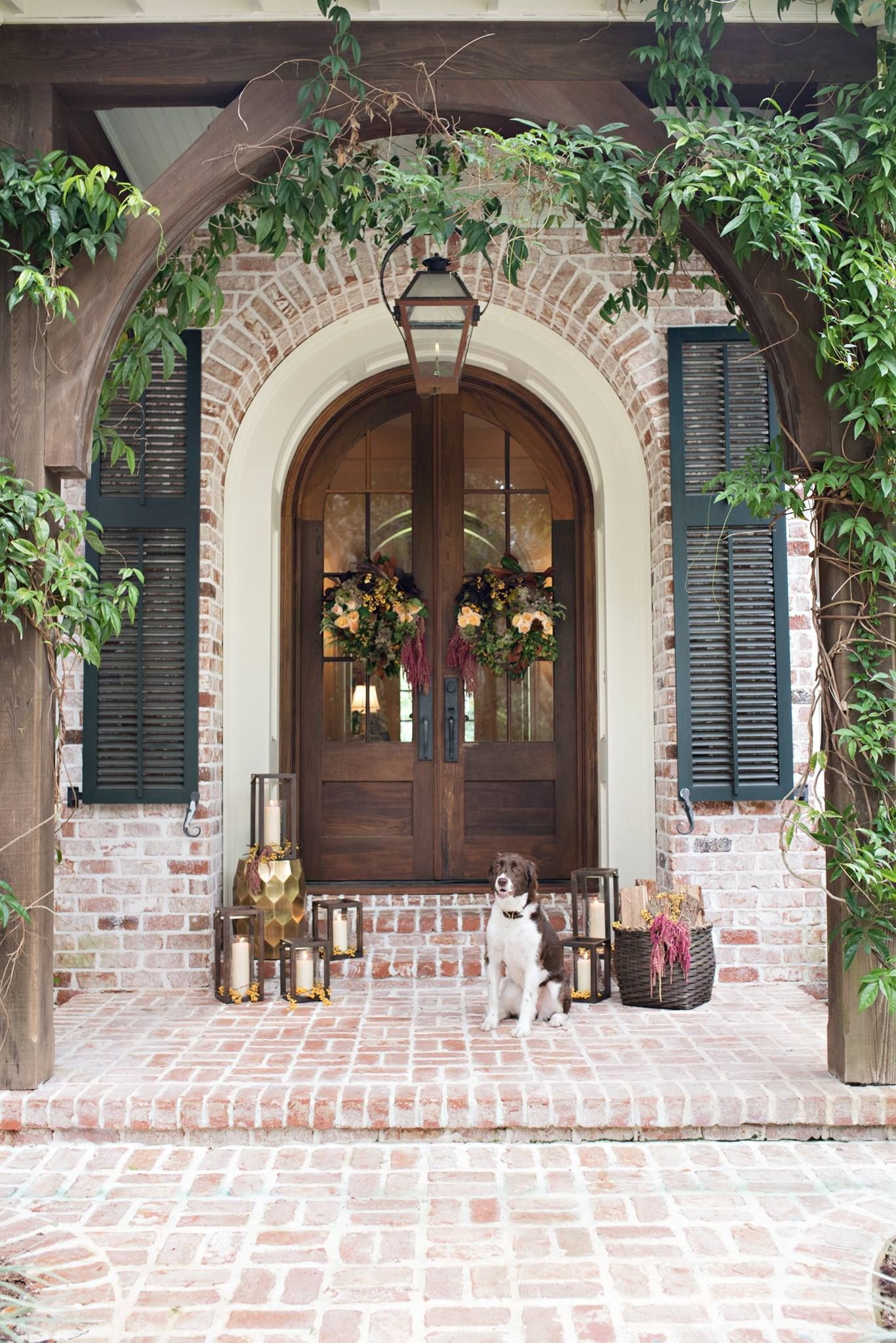 Beautiful Fall Front Entry House Exterior Exterior Brick House