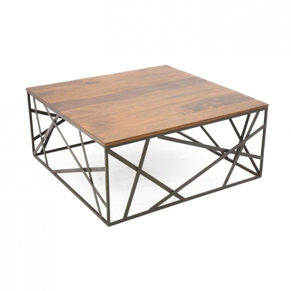 Table Basse Bois Et Fer Forge.Table Basse Bois Metal Meli Melo Sasque Amazing Household