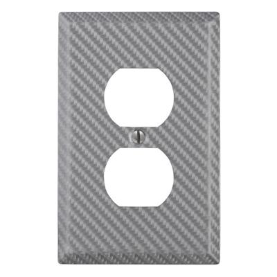 Amerelle Wall Plate 944dsl 1 Gang Silver Single Duplex
