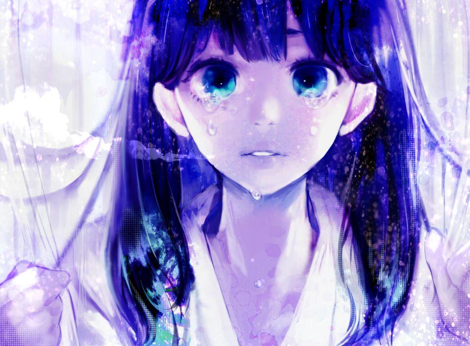Extraordinary Sad Girl Crying Anime 1022x768PX Crying