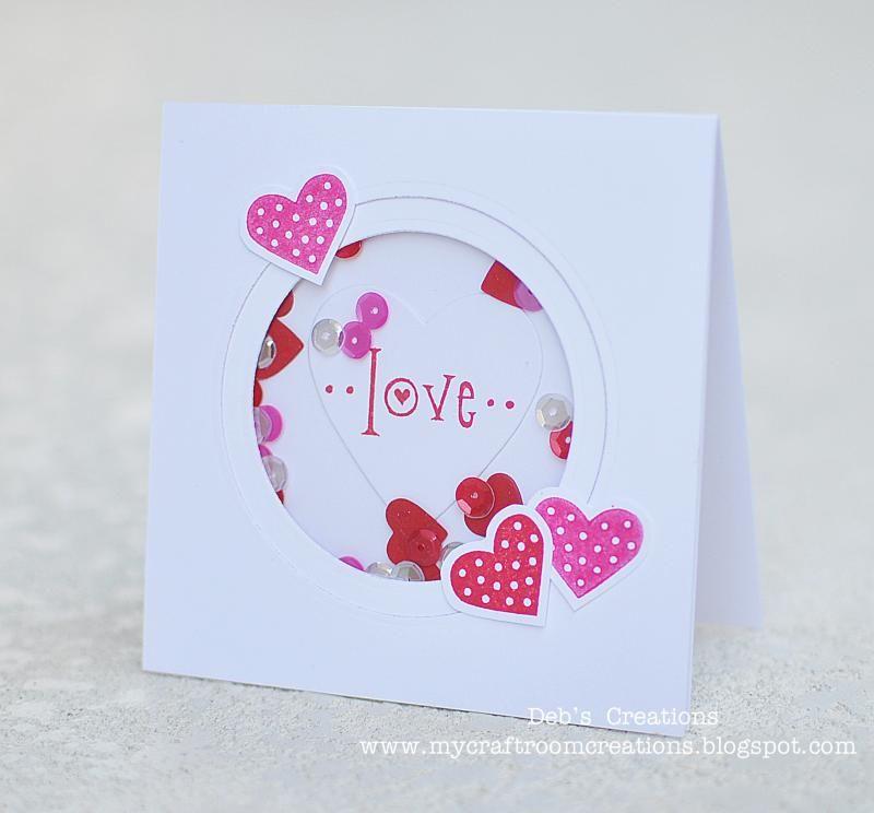 My Craftroom Creations Denami Design Valentine Blog Hop Valentines Cards Valentine Day Cards Shaker Cards