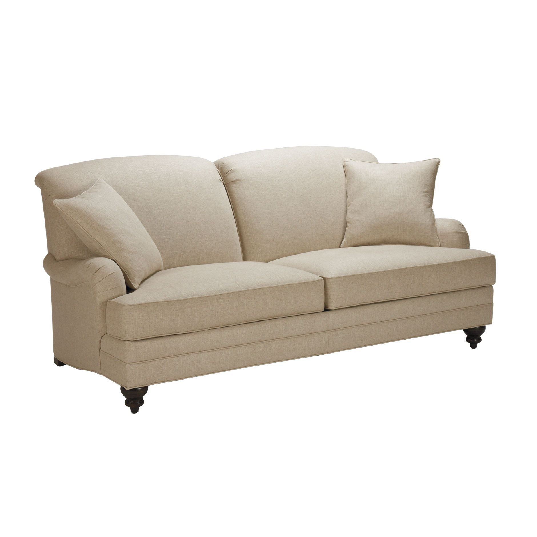 Madison Sofas Ethan Allen 79 Or 85 W X 35 H X 39 D Tight Back Spool Feet English Styling Seating Area 207774 Sofa Comfy Sofa Chair Tight Back Sofa