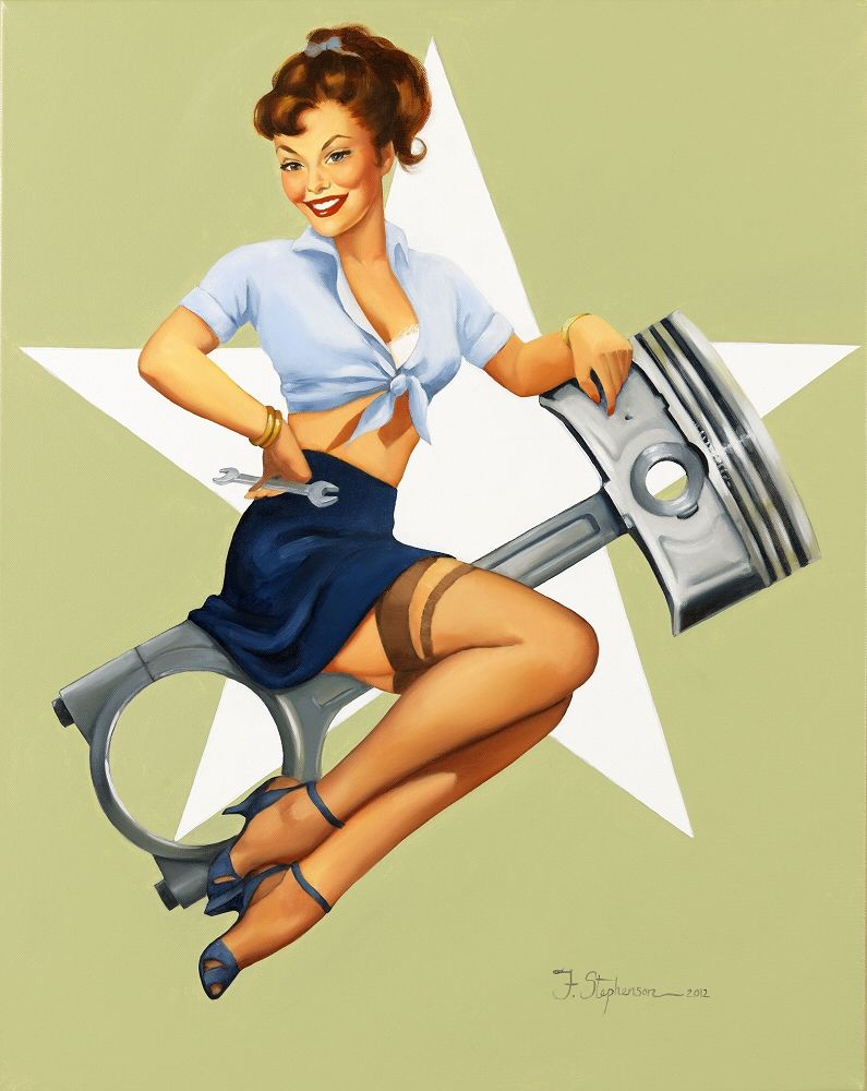 Classic Pin Up Girls The Vintage Pin Up Girls Of Fiona Stephenson