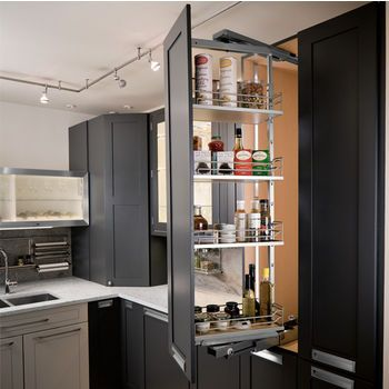 This Swing Pantry from Hafele allows for easy front access of stored ...
