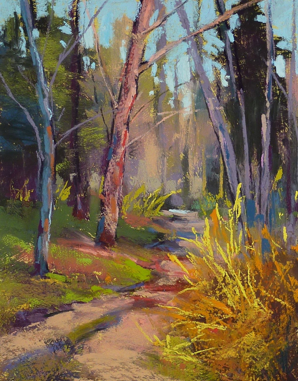 Pin By Darlene Chamberlin On Art And Instruction Pastel Landscape Spring Landscape Art Painting