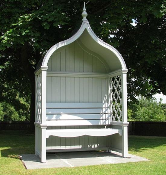 pergola banc en bois style classique anglais tek import bois. Black Bedroom Furniture Sets. Home Design Ideas