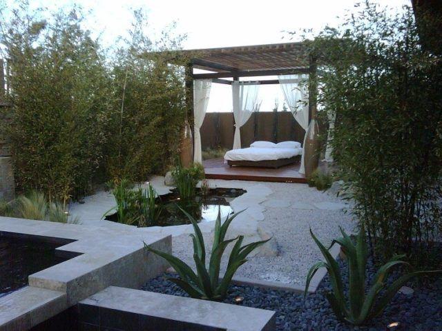 M s de 25 ideas para crear tu jardin zen con cama home for Terrazas zen fotos