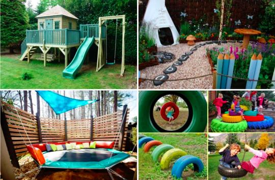 De belles id es d 39 am nagement d 39 espace de jeux dans le jardin pour le - Amenagement espace enfant ...