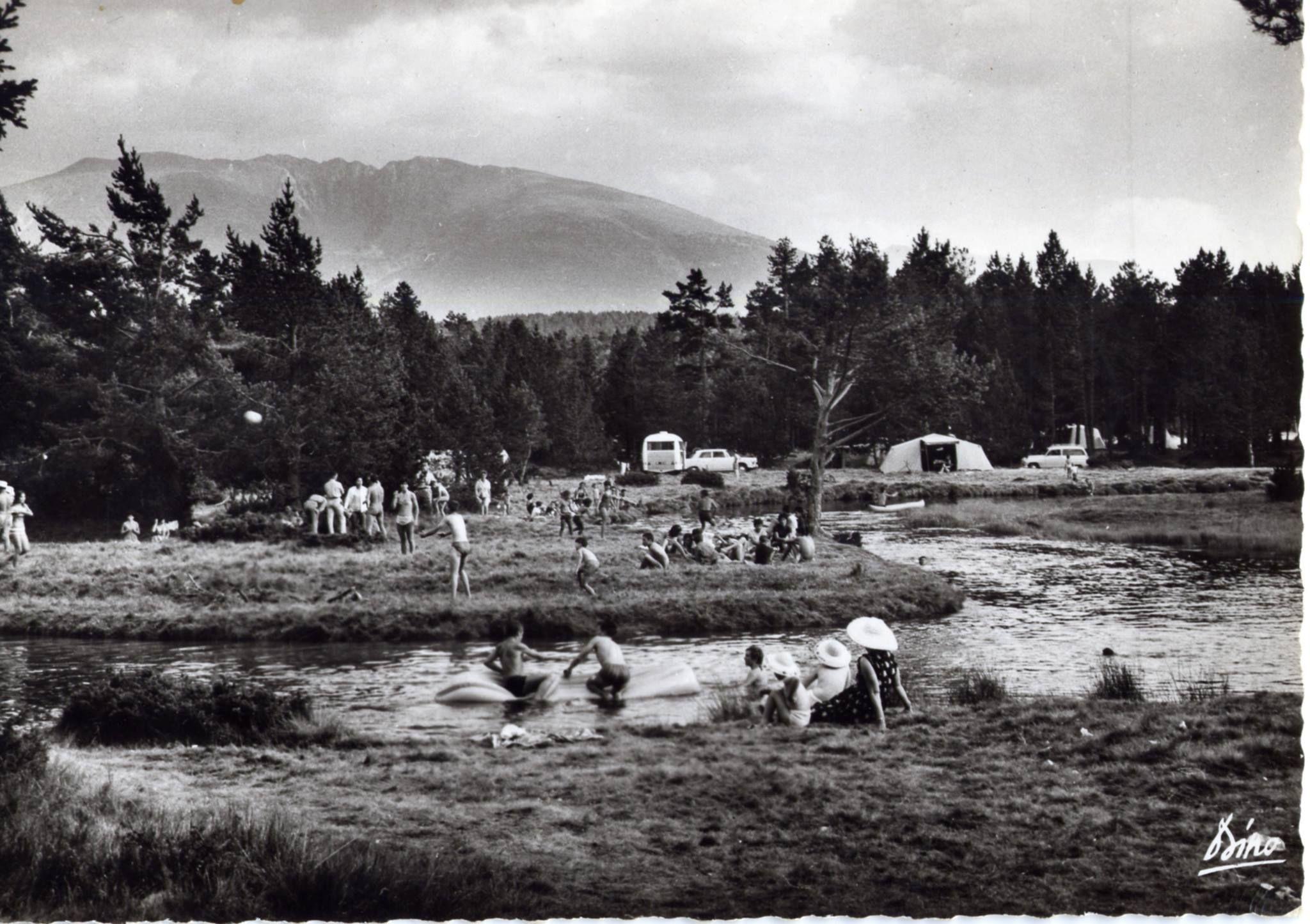 Le camping de Pla de Barrés est l'un des plus ancien camping du département (66)à Montlouis. Ici  dans les années 50.
