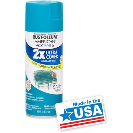 Rust Oleum American Accents Ultra Cover 2x Walmart Com Black Spray Paint American Accent Rustoleum