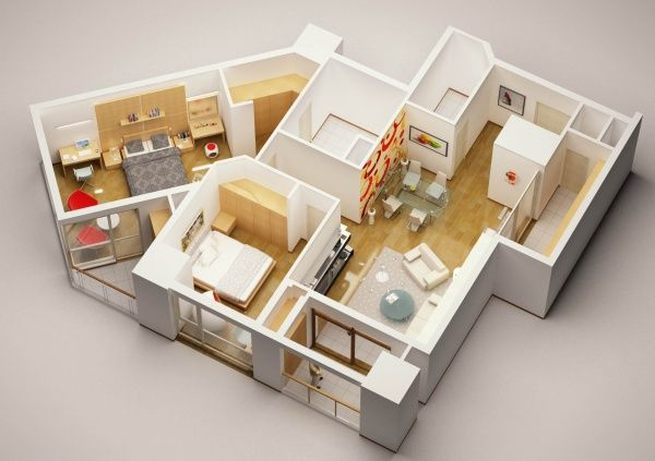 Elegant 3D Model Detailed House Interior Architecture 3D Models