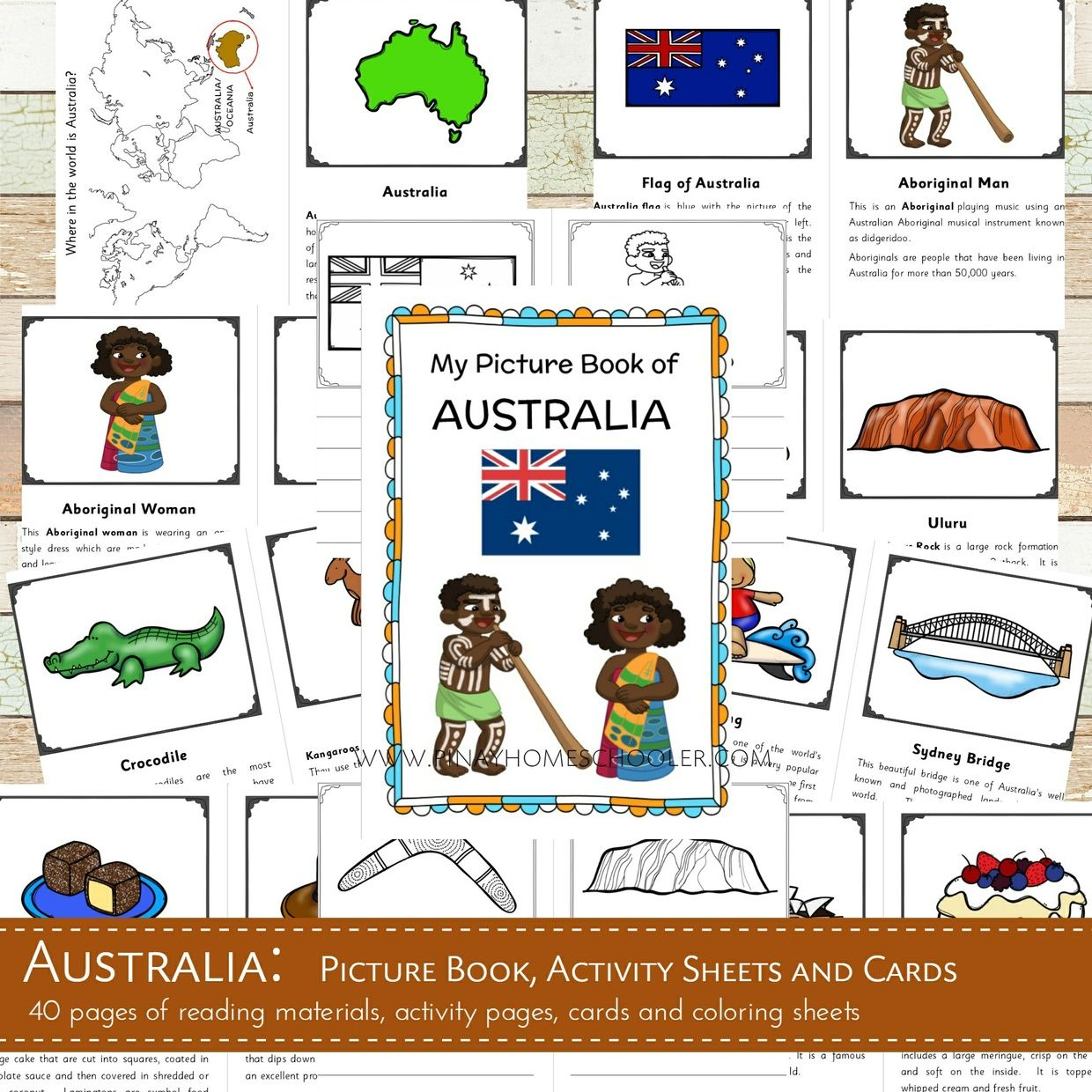 This Contains Learning Materials For Introducing Australia