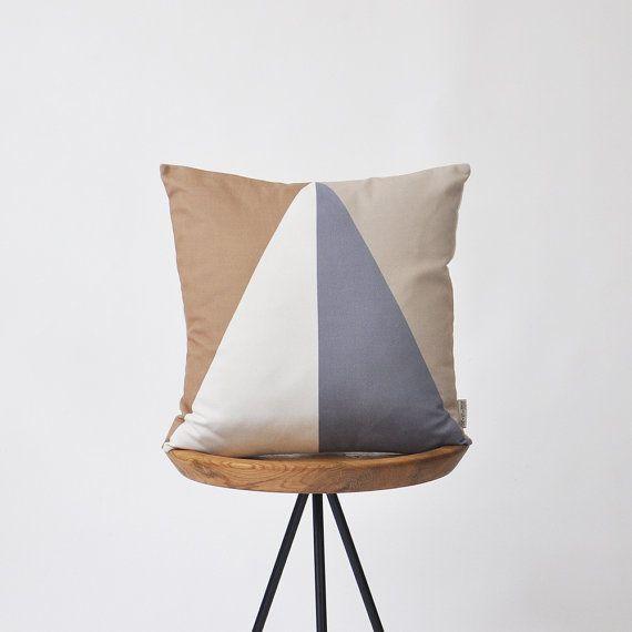 Modern Decorative Pillow Geometric Pillow Throw by LoveJoyCreate
