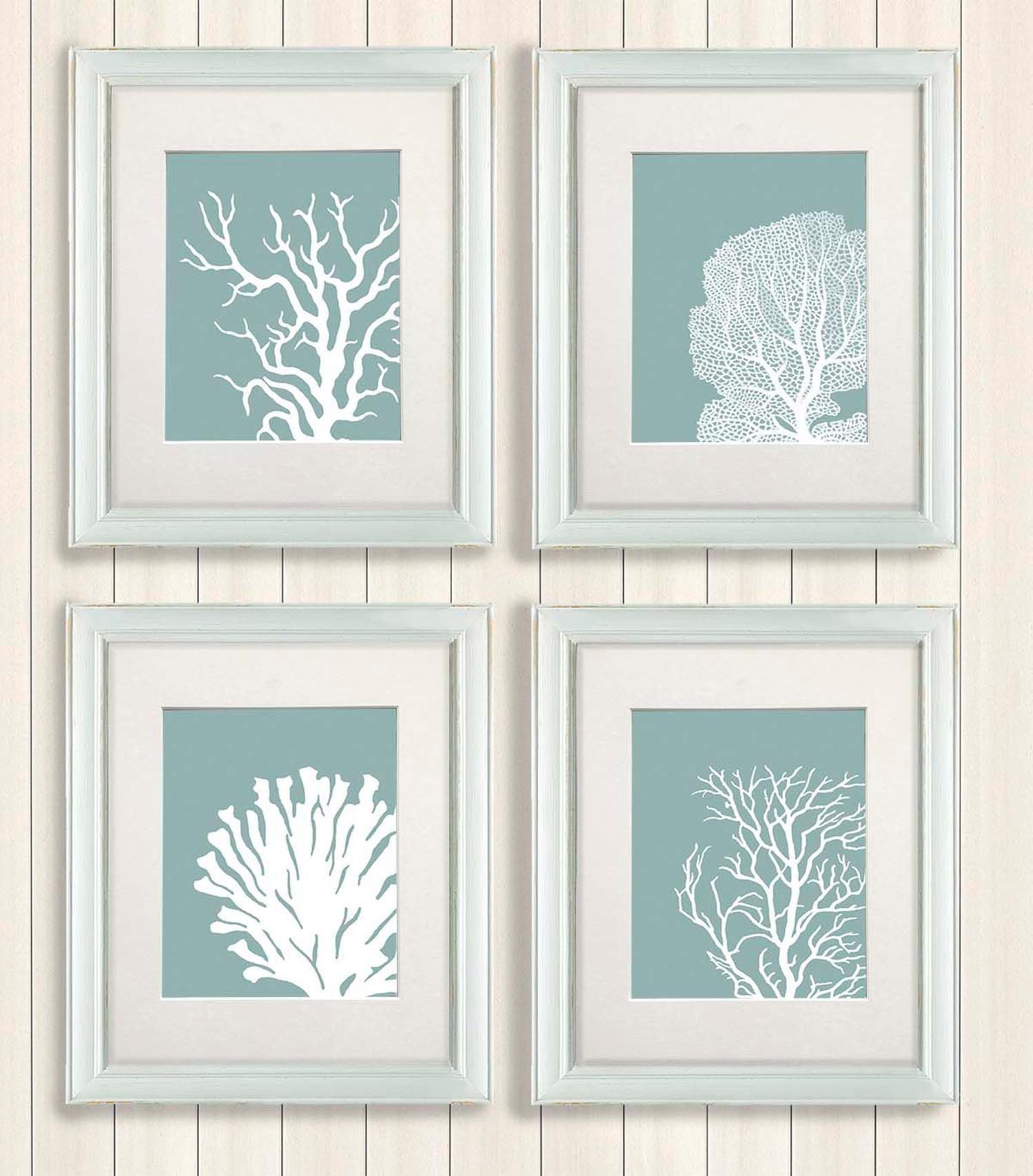 Diy Gorgeous Beach Themed Wall Decorating Ideas 14 Coral Art