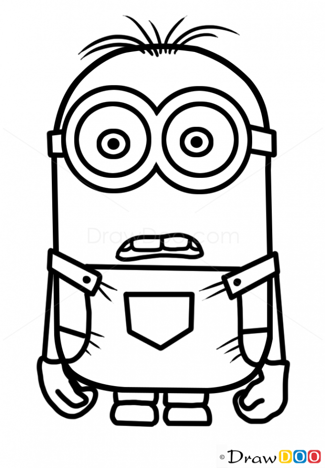 Cartoon Characters To Draw : How to draw minion dave cartoon characters