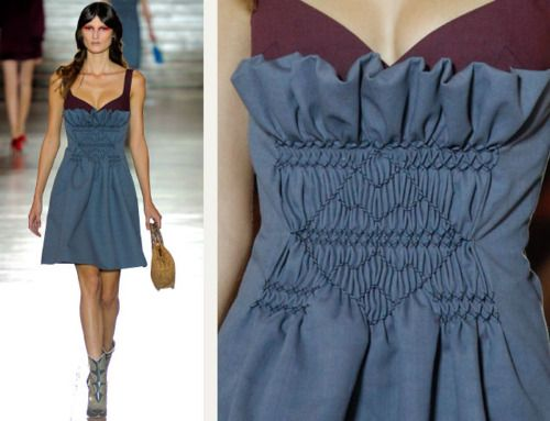 934ffd6aa16 THE CUTTING CLASS - SMOCKING TECHNIQUES AT MIU MIU In the past few seasons  there have been some great examples of designers taking fairly  old-fashioned and ...