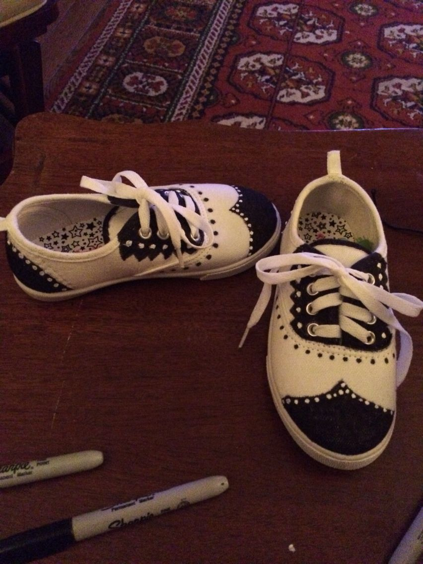 Diy saddle shoes #lovesharpies