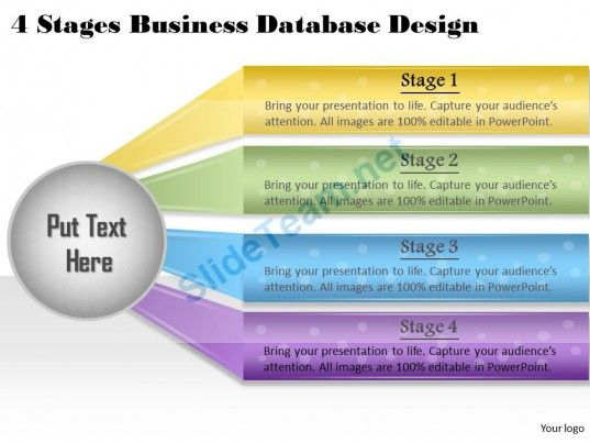 1013 Business Ppt diagram 4 Stages Business Database Design - roadmap powerpoint template