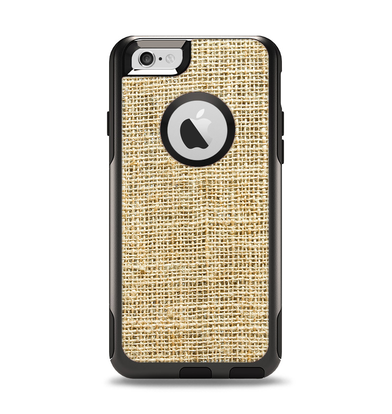 The Burlap Texture Apple iPhone 6 Otterbox Commuter Case Skin Set