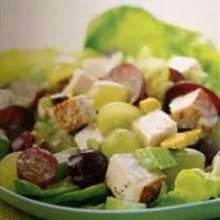 Turkey Salad with Pistachios and Grapes