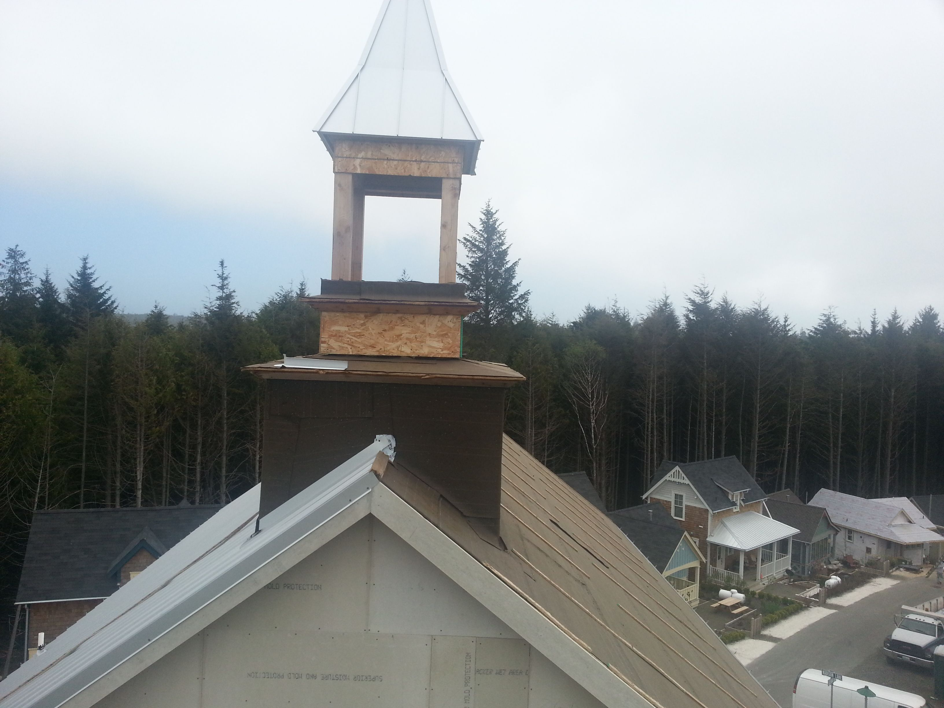 Bell tower up high outdoor structures gazebo outdoor