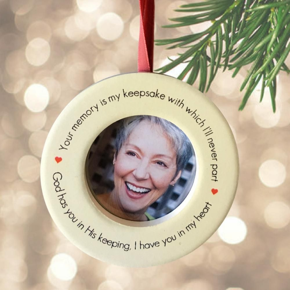 Memorial Christmas Ornament – In Loving Memory Keepsake Ornament ...
