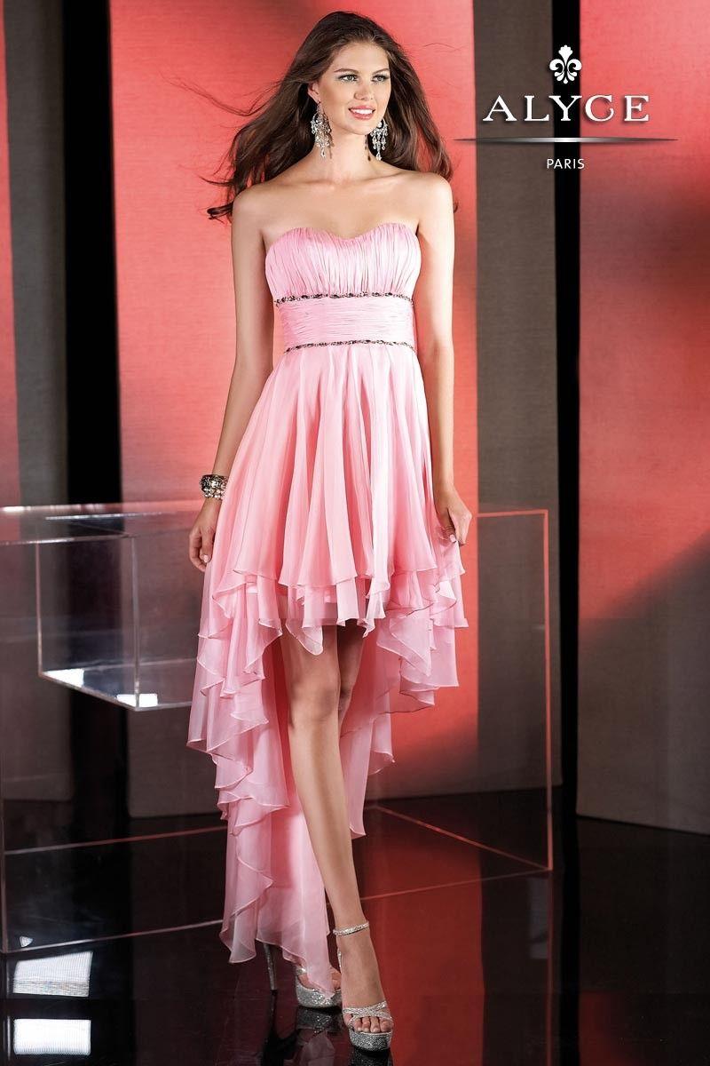 Alyce paris budazzle long short prom dress style