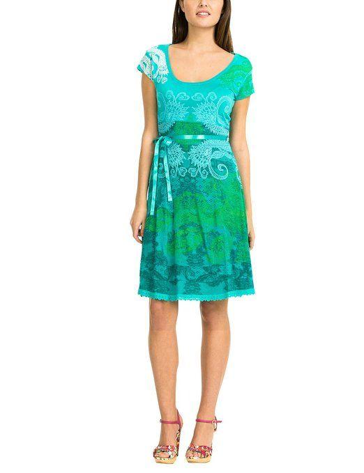 Desigual kleid blau grun
