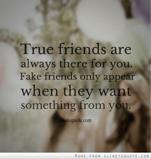 True Friends Are Always There For You Fake Friends Only Appear When