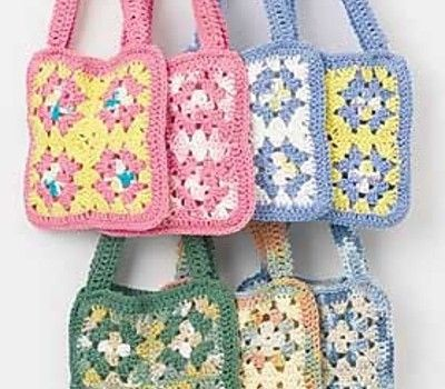 Free Pattern Fun And Really Easy To Make Crochet Granny Square Bag