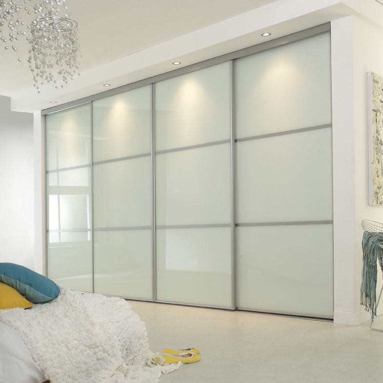 Cupboard Bedroom Be Equipped Sliding Wardrobe Doors With Glass Panel