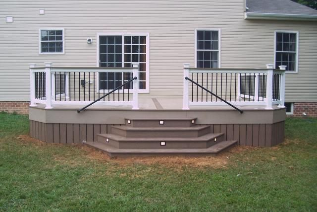 Octagon Deck Stairs Design Multi Color Decks Waterfall Deck Steps Patio Stairs Deck Stairs Stairs Design