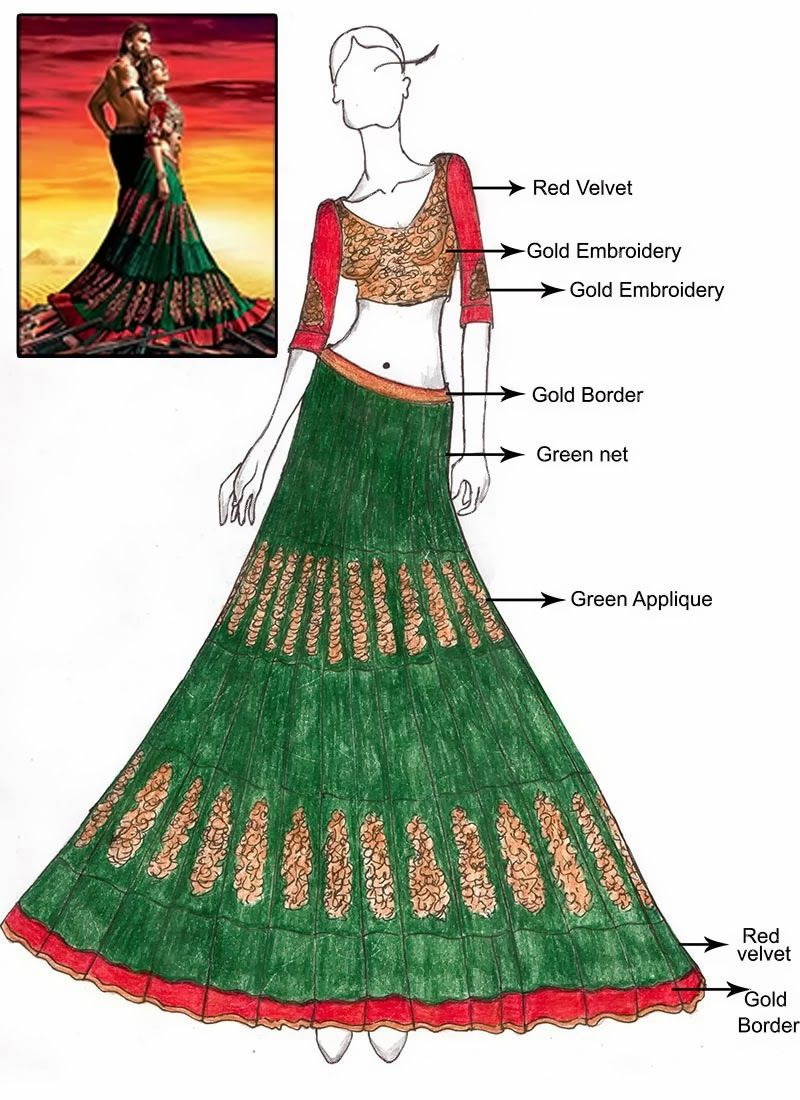 Designs fashion indian sketches