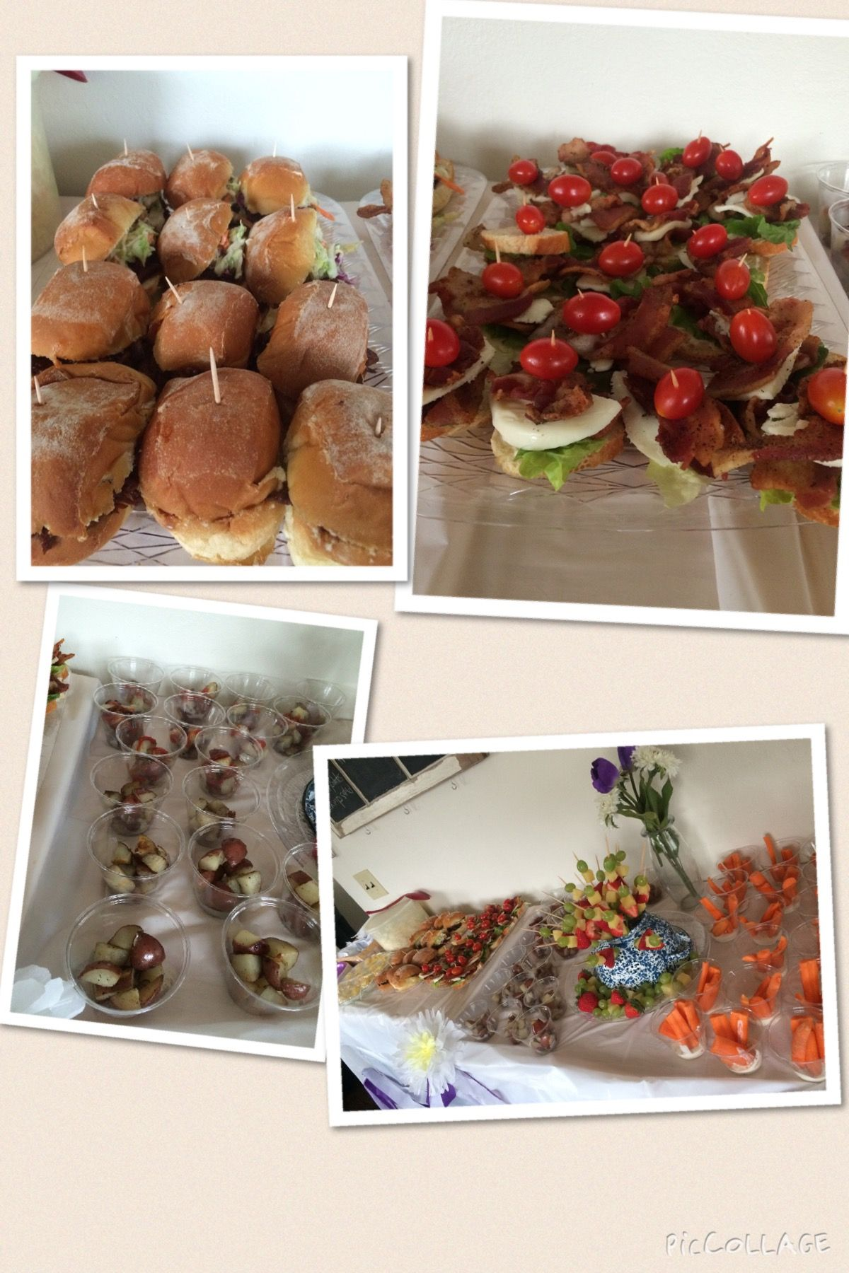 Spring baby shower mini foods