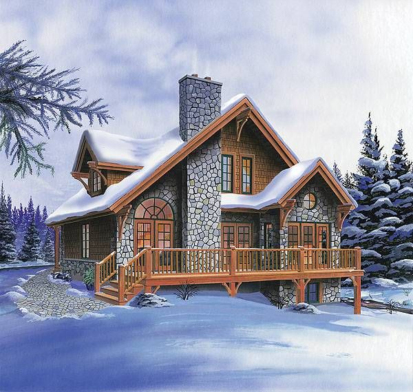 Country Rustic Cottage With 3 Bedrooms Cottage Style House Plans Craftsman Style House Plans Basement House Plans