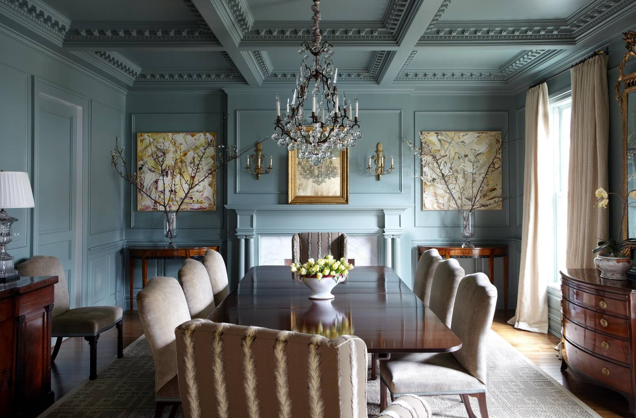 Farrow U0026 Ball Green Blue English Country Dining. I Love This Look. The Color